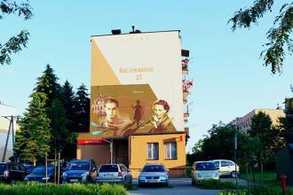 Powstał mural Krzysztofa Kamila Baczyńskiego: Miłość jest poezją